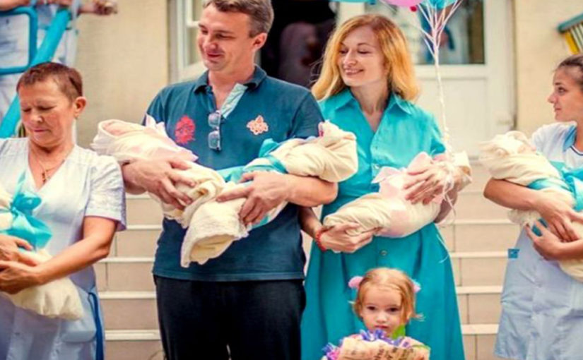 Муж бросил жену после того, как она родила ему пятерняшек