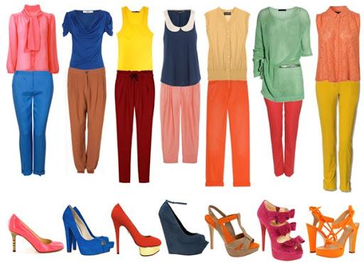 Гармоничные цветовые комбинации в гардеробе.